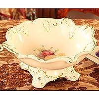 frutta continentale/Lusso soggiorno pratico portafrutta in ceramica/ tavolino ornamenti della famiglia-C