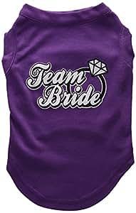 Mirage Pet Products 51-77 MDPR Team Bride Screen Print Shirt Purple Med - 12