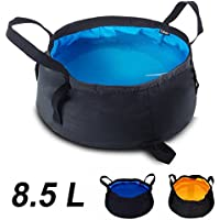 Moppi 8.5l depósito de agua plegable lavabo senderismo pediluvio acampar kit de viaje lavabo portátil