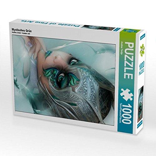 Mystisches Grün 1000 Teile Puzzle hoch
