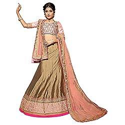 Manvaa Beige Colour Paper Silk Lehenga Choli With Dupptta