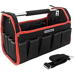 Werkzeugtasche - L -   Modellauswahl   inkl. Schultergurt   stabile Aluminium-Tragestange - Montagetasche Werkzeugbox Werkzeugkasten