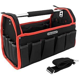 Werkzeugtasche - L - ✔ Modellauswahl ✔ inkl. Schultergurt ✔ stabile Aluminium-Tragestange - Montagetasche Werkzeugbox Werkzeugkasten