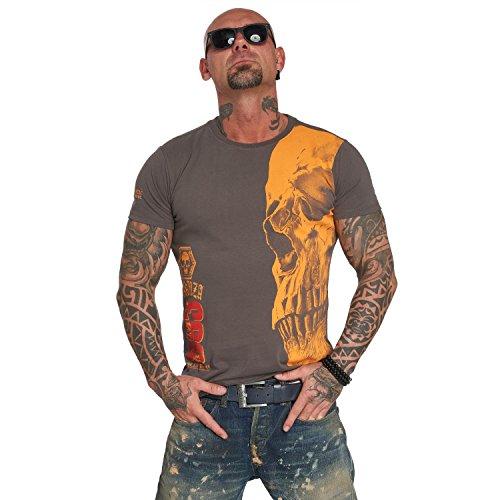 Yakuza Original Herren Skull T-Shirt - Dark Gull Gray - L