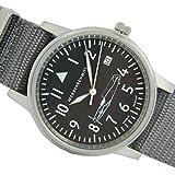 Messerschmitt 109-s–Armbanduhr Herren, Armband aus Tuch