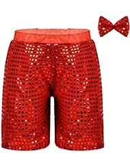 83dcb87c6 ranrann Pantalones Cortos de Danza Baile Callejero para Niñas Niños Shorts  de Jazz Hip Hop con