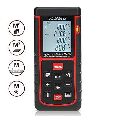 COLEMETER 60M Digital Laser Entfernungsmesser Distanzmesser Distanzmessgerät Entfernungsmessgerät Winkelmesser Volumenberechnung