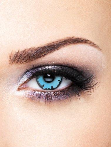 Edit farbige blaue Wizard Kontaktlinsen ohne (Kontakte Halloween Verrückte)
