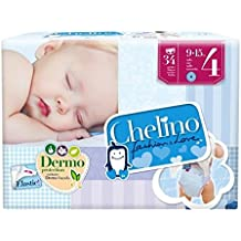 Chelino Fashion & Love, Talla 4, 6 packs de 34 [204 pañales]