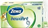 Zewa bewährt Toilettenpapier, 3-lagig, 3 Packungen (je 16 Rollen x 150 Blatt) -