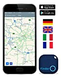 Musegear® Schlüsselfinder mit Bluetooth App | Keyfinder laut für Handy in blau | GPS Ortung / Kopplung | Version...