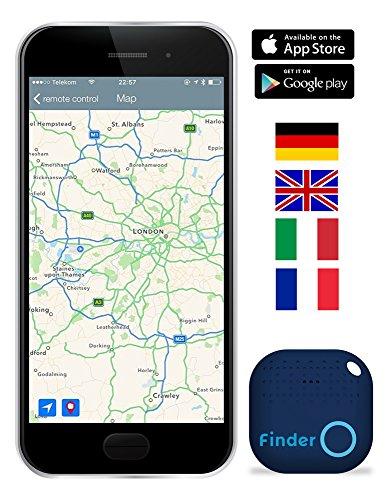 Musegear® Schlüsselfinder mit Bluetooth App I Version 2 I Keyfinder laut für Handy in blau I GPS Ortung / Kopplung I Schlüssel finden