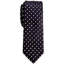 Corbata Retreez con nudo hecho para chico, textura de rayas en zigzag y lunares, microfibra de 5 cm Negro negro Talla única