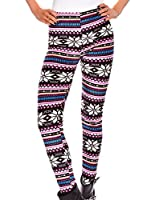 Zarlena Leggings Winterleggings Norweger Thermo Teddy Fleece gefüttert viele verschiedene Muster