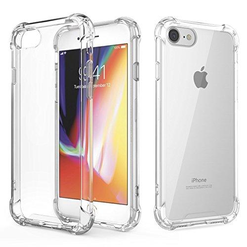 AVANA iPhone 8 Hülle, iPhone 7 Hülle Durchsichtige Schutzhülle Case TPU Schale Cover Kratzfest Handyhülle Klar Bumper Kantenschutz für Apple iPhone 7/iPhone 8 Transparent (Apple Iphone Bumper)