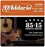 #4: D'Addario EZ900 Bronze Acoustic Guitar Strings