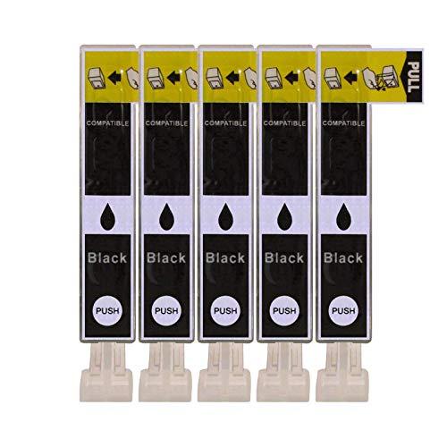 5 Druckerpatronen kompatibel zu CLI-526BK Foto Schwarz für Canon Pixma IP4850 IP4950 IX6550 MG5150 MG5250 MG5300 MG5350 MG6150 MG6250 MG8150 MG8250 MX715 MX885