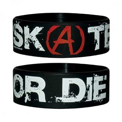 Fun - Skate Or Die - Silikon Armband für Sammler - Wristbands - Breite: 24mm, Durchmesser: 65mm, Dicke: 1mm