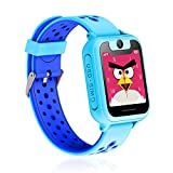 Leoie Waterproof GPS Tracker Kids Child Watch Anti-Lost SOS Call for Android/iOS Blue
