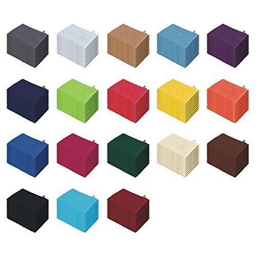 Confezione da pezzi/confezione da pezzi set asciugamani per ospiti molti colori Asciugamano ospite 30x 50 100% cotone sabbia 10er Pack