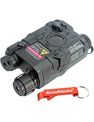 PEQ-15 Dummy Airsoft AEG RIS Mount Case bater?a (Negro) - AirsoftGoGo Llavero Incluido