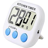 Magnetico Digitale Timer da Cucina con Allarme Forte e Ampio Display LCD  Bianco Blu