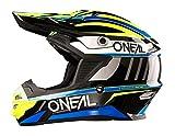 O'Neal 7Series MX Helm Chaser Schwarz Blau Motocross Enduro Offroad Quad Cross, 0578-00, Größe M (57/58 cm)