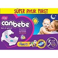 Canbebe Bebek Bezi Süper Aylik Paket, Beyaz