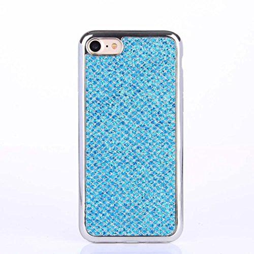 Cover per iPhone 7, Tpulling Custodia per iPhone 7 Case Cover Custodia in silicone morbida antiurto TPU per IPhone 7 4.7 pollici (Pink) Blue