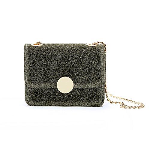 FZHLY New Fashion Ladies Mini Shoulder Bag Messenger,Pink Gold