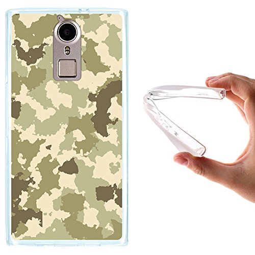 WoowCase Doogee F5 Hülle, Handyhülle Silikon für [ Doogee F5 ] Grüne Militärtarnung Handytasche Handy Cover Case Schutzhülle Flexible TPU - Transparent