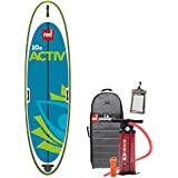 2017 Red Paddle Co 10'8 Activ Inflatable Stand Up Paddle Board + Bag, Pump, Paddle & LEASH