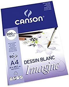 Canson 200006008 Imagine Mix-Media Papier, A4, rein weiß
