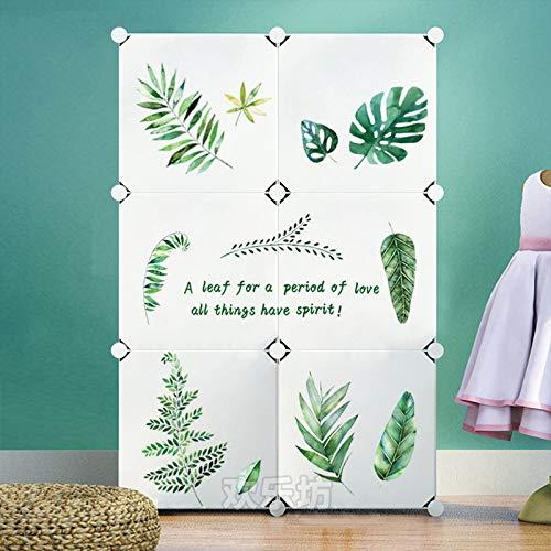 Yirenfeng Schlafzimmer Kleiderschrank Kinderzimmer Cartoon Schranktür Wandmalerei Zimmer Schlafsaal Tür Einfügen Selbstklebend, W