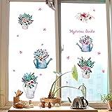 RUIPENGPENG Wall Sticker Aufkleber wasserdicht Abnehmbare für Wohnzimmer Kinder Baby Nursery die Tür zum Bad Fenster Glas Balkon Schiebetür personalisierte dekorative Wand, nur die Vereinigten Staaten, große Blumentopf