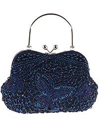 LLUFFY-Clutch Pochette Borsetta a rilievo in perline Pure Handicraft Bag  Dinner Classica Borsa Elegante 841304ea779