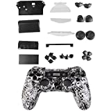 Kit Cáscara Cubierta Funda Protectora Botón Para Mando PS4 Playstation4 Color Blanco
