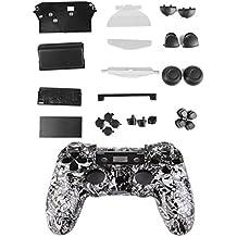 Kit Cáscara Cubierta Funda Protectora Botón Para Mando PS4 Playstation4 Color Blanco
