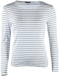 GANT Damen Langarmshirt 1x1 Rib Striped T-Shirt Ls