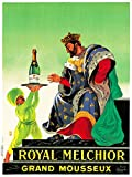 Wee Blue Coo Prints ADVERT DRINK ALCOHOL CHAMPAGNE ROYAL MELCHIOR KING BOTTLE FRANCE POSTER 30X40 CM 12X16 IN Werbung Getränk Alkohol königlich König Flasche Frankreich