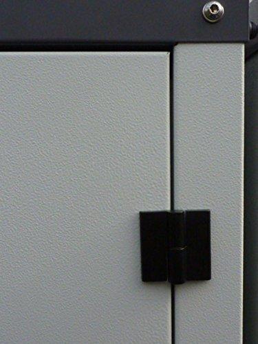 Mülltonnenbox aus Metall für 2x 120 oder 2x 240 liter MB75 DUO - 3