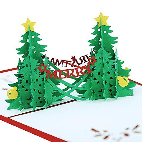 San Bodhi® Kreative 3D Pop Up Merry Christmas Tree Grußkarte Urlaub Geschenk für Freunde multi