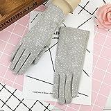GBT Guidare i guanti di protezione delle creme solari delle signore sottili guanti anti uv anti invecchiamento,Grigio