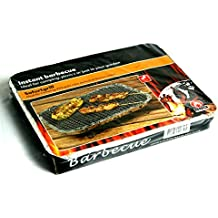 Móvil inmediatamente parrilla desechables para desechables de inmediato Barbacoa compacta para camping + Picnic con carbón + Cigarrillos en carcasa de aluminio