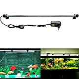SUBOSI FVTLED Blanco Color Lámpara de Acuario 8W 62CM 33 Luces SMD5050 LED Lampara Tira Pecera Sumergible Submarino Luz