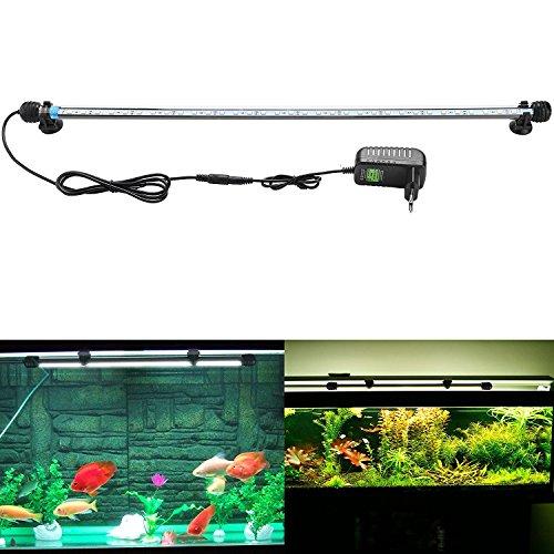 3 - SUBOSI FVTLED Blanco Color Lámpara de Acuario 8W 62CM 33 Luces SMD5050 LED Lampara Tira Pecera Sumergible Submarino Luz