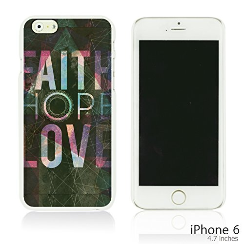 OBiDi - Typography Pattern Hard Back Case / Housse pour Apple iPhone 6 / 6S (4.7 inch)Smartphone - Life Is Faith And Love