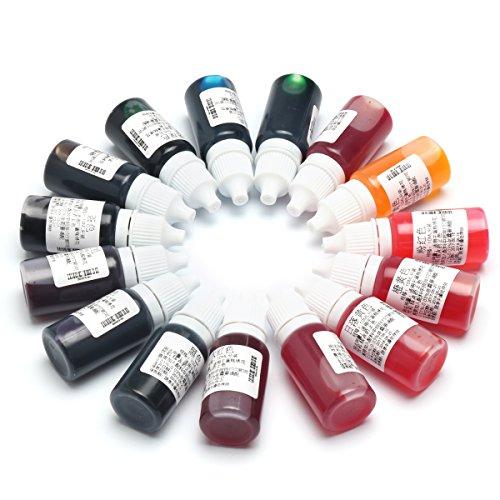 EsportsMJJ 15 Farben Uv Epoxidharz Färben Farbmittel Pigment Mix Farbe Für Diy Hobbiers