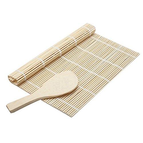 1 Set Sushi Rollen Anzüge Bambus Sushi Roller Bambus Sushi Kit Rollmatte mit Reis Paddel Set (Spachtel Kostüm)