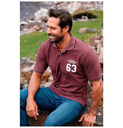 JAN VANDERSTORM Herren Poloshirt IRMIMAR in Übergröße   Große Größen   Plus Size   Big Size   XL - 7XL Rot